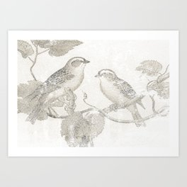 2 LITTLE BIRDS  Art Print