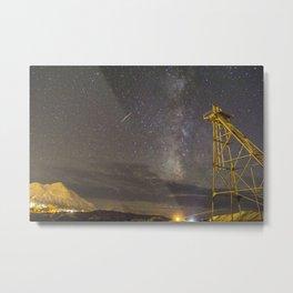 Starry Desert Night Metal Print