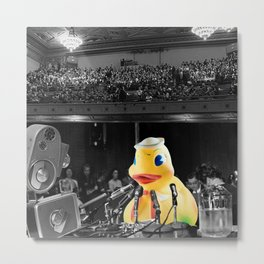 Ducky Conference Metal Print