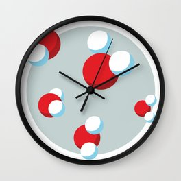 Water Molecules Wall Clock