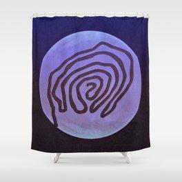 Tribal Maps - Magical Mazes #04 Shower Curtain