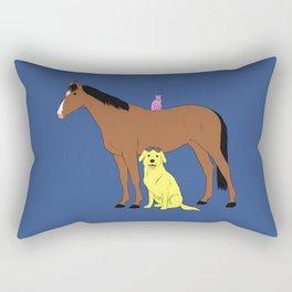 Animals from Hollywoo Rectangular Pillow