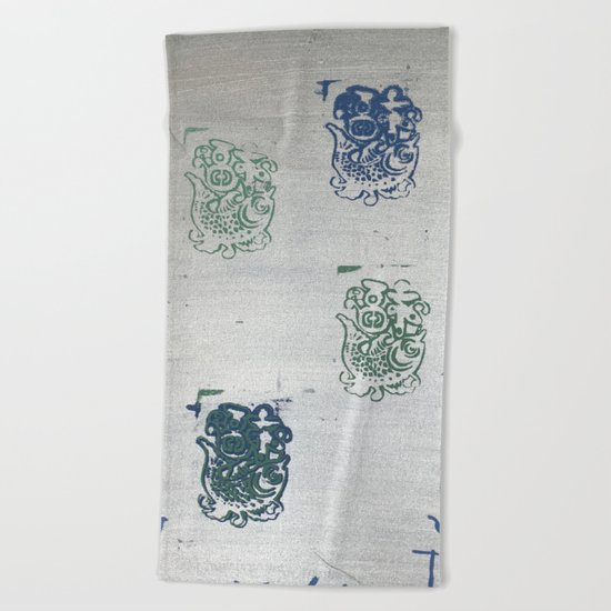When Trapped Water Makes a New Path Beach Towel