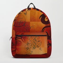 Awesome dragon with floral elements Backpack