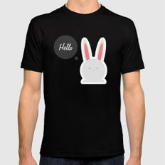 Hello Pets no.4 Black MEDIUM Mens Fitted Tee