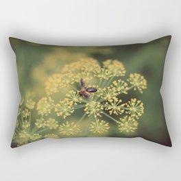 Bokeh Bee Rectangular Pillow