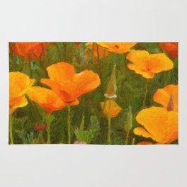 California Poppies Art Rug