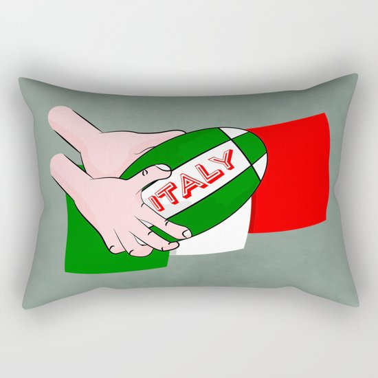 Rugby Italy Rectangular Pillow