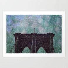 Snowy Brooklyn Art Print