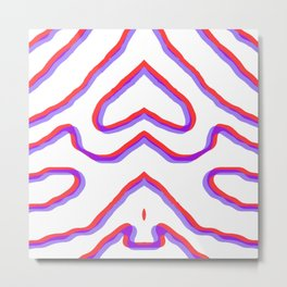 topo in red & blue Metal Print