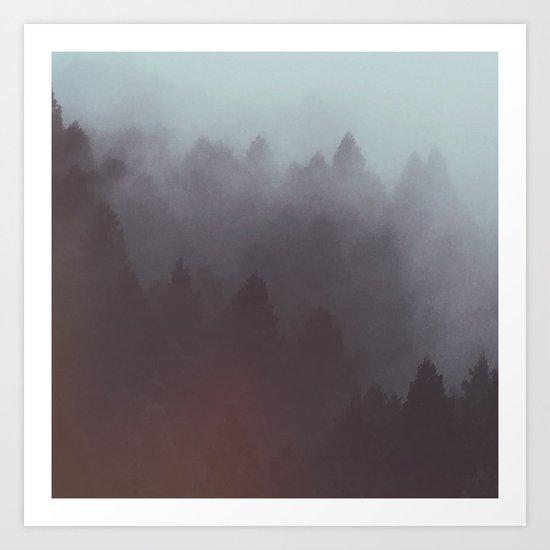 Watercolor Fog Art Print