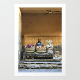 Quiet afternoon in Cairo Art Print