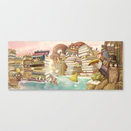 The Library Islands Canvas Print
