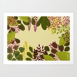 Belle plante Art Print