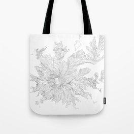 Mount Rainier, WA Contour Map In White Tote Bag