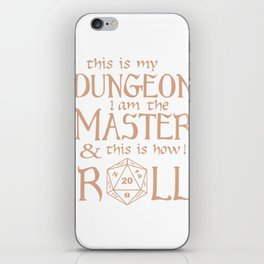 Tabletop Gaming DM Print How I Roll Dragons D20 Dice Tee iPhone Skin