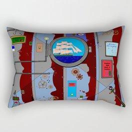 A Nautical Style Below Deck Port Hole Rectangular Pillow
