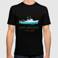 The Life Aquatic with Steve Zissou Mens Fitted Tee Black MEDIUM