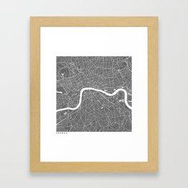 London UK Modern Map Art Print Framed Art Print