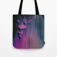 fringe Tote Bags featuring Pink Fringe by DuckyB