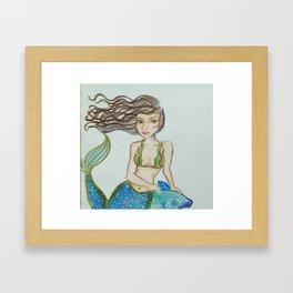Seaweed Serena Framed Art Print