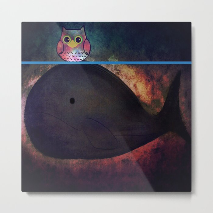 owl&whale-18 Metal Print