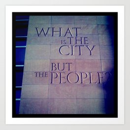 What is the City Art Print