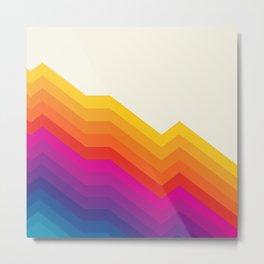 Seventies rainbow stripes Metal Print