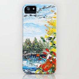 Landscape painting- The departure - by LiliFlore iPhone Case