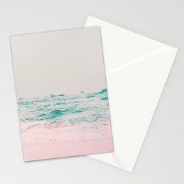 Vintage Pastel Ocean Waves Stationery Cards