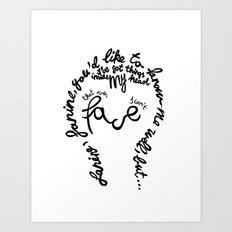 David Bowie - Janine Art Print