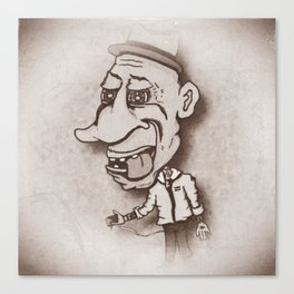 Old Tyme Tattooer Canvas Print