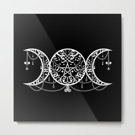 Triple Goddess Symbol Ornament Metal Print