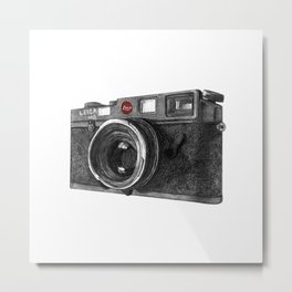 Leica M6 Camera Sketch Metal Print