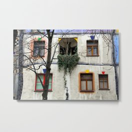 Windows of the Hundertwasserhaus Metal Print