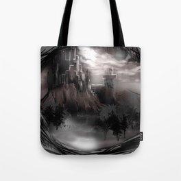 Castle on the Edge of Tomorrow Tote Bag