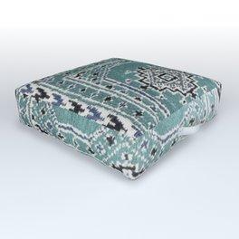 Traditional rug in denim blue Outdoor Floor Cushion
