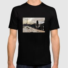 Two Towers MEDIUM Mens Fitted Tee Black