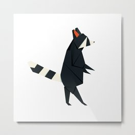 Racсoon Origami Metal Print