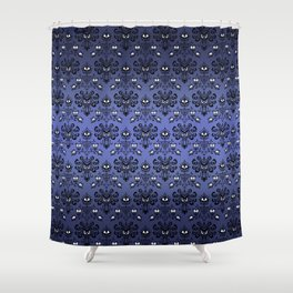 Owl Ghost and Cyclops Monster Pattern Art Shower Curtain