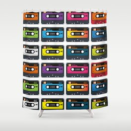 Vintage audio tape Shower Curtain