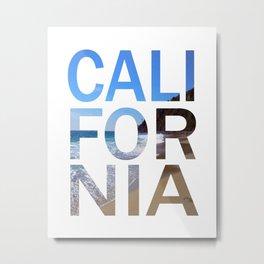 California Print, California Poster, California Wall Art, Metal Print