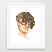 jenny liz rome Framed Art Prints featuring Liz  by Alexandra Davidoff