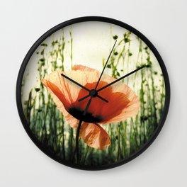 Eclosion de Coquelicot Wall Clock