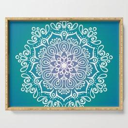 Baesic Turquoise Tranquil Mandala Serving Tray
