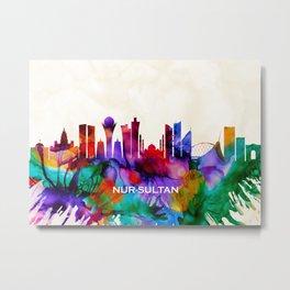 Nur-Sultan Skyline Metal Print