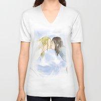 fili V-neck T-shirts featuring Fili and Kili_Escape by JoySlash