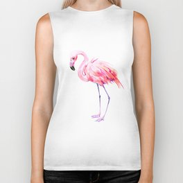 Flamingo pink flamingo design decor flamingo lover artwork Biker Tank