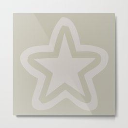 Pastel star on a neutral color background Metal Print