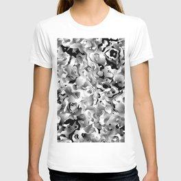 Liquid Flowers Black and White T-shirt